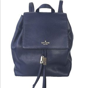 Kate Spade Wilder Grey Street French Navy Backpack